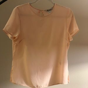 Light powder pink 100% silk blouse